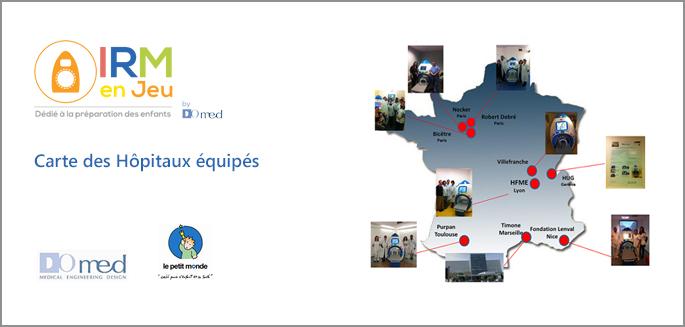14 Hôpitaux équipés Europe ,Canada, Suisse par les URM pour enfant